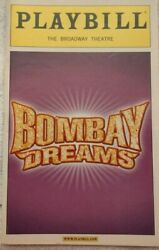 Bombay Dreams 2004 Broadway Musical Playbill Broadway Theatre - Nice Condition
