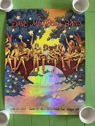 Dave Matthews Band Poster Raleigh Nc. Very Limited Foil Edition 35/100 7/23/21