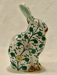 Herend Siang Blanc Sitting Bunny Rare-estate-mint
