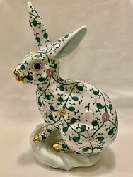 Herend Siang Blanc Large 12andrdquo Bunny On Base Estate-mint