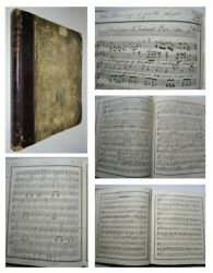 1842 Manuscript Music Book 170 Handwritten Pages Of Music And Lyrics Songs Waltz's
