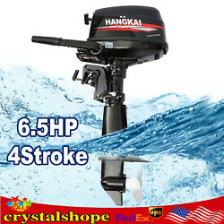 Outboard Motor 6.5 Hp 2 Stroke Engine Water Cooling Cdi System Marine Boat Motor