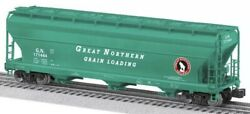 ✅lionel 27491 Aluminum Great Northern Acf 3 Bay Covered Hopper Car O Scale