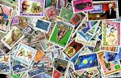Community French 10000 Stamps Different Obliterated