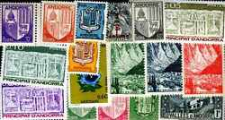 Andorra French 400 Stamps Different