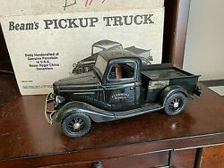 1935 Ford Clermont Pickup Truck Black Jim Beam Decanter With Original Box