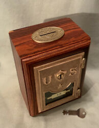 Antique Vintage Post Office Door Mail Box Postal Bank-rare St. Paul In Cocobolo