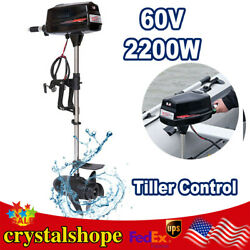60v 2200kw Electric Outboard Motor Brushless High Power Fishing Boat Engine