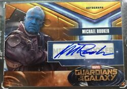 Michael Rooker Autographed Trading Card Marvel Guardians Of The Galaxy Ud