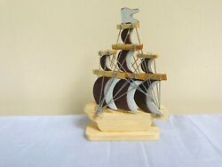New Wood Assembly Diy Ship Model Kit Wooden Sailing Boat Decoration Toy Gift