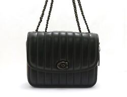 Coach Madison Chain Shoulder With Quilting Black Bag 472 Dai No.4730