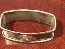 Antique Salvation Army Blood And Fire Sterling Silver Webster Company Napkin Ring