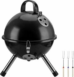 New Portable Grill Bbq Smoker Charcoal Outdoor Camping Patio Wood Barbeque Oven