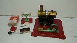 Mamod Se.1a Toy Steam Engine With Accessories And Original Box