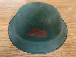 Wwi Doughboy 1917 Helmet 78 Lightning Division Hand Painted