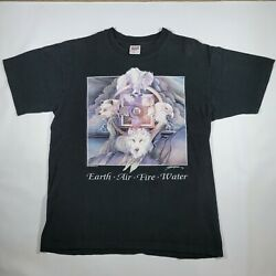 Vintage Earth Air Fire Water Dream Catcher Native American Indian Shirt Size L