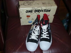 One Direction Women's Embellished Black High Top Sneakers Size 9m New Ret 60