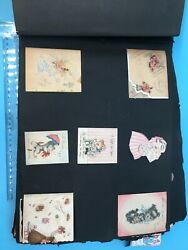 Vtg Over 200 Bridal Wedding Baby Shower Tiny Gift Cards 1940s In Scrapbook