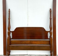 Vintage Queen Chippendale Poster Bed