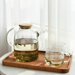 Table Drinkware Teapots With Cork Lid And Cup Set Heat-resistant Glass Materials