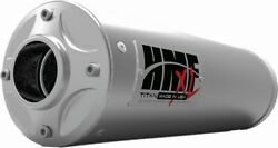 Hmf Racing Titan-xl-series Slip On Exhaust For Yamaha Grizzly 550-700 2007-2021