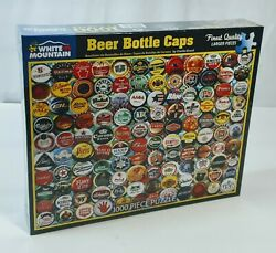 """White Mountain Beer Bottle Caps 1000 Piece Puzzle 24x30"""""""