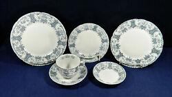 49-pce. Set Of Warwick Colonial Pottery Stoke England China - 100+ Yrs Old