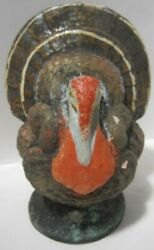 Old Thanksgiving Tom Turkey Paper Mache Candy Container