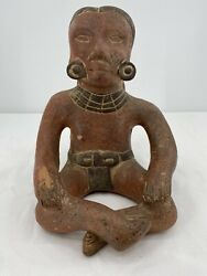 Antique Mexican Mayan Folk Art Natural Clay Redware Pottery Planter