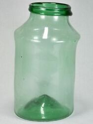Large Early 19th-century Blown Glass Preserving Jar - Green 18