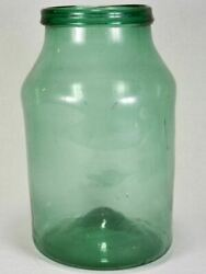 Early 19th-century Blown Glass Preserving Jar - Green 15¼