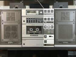 Sony Fh-7 Vintage Stereo Boombox Phono Input / Cd/ Aux