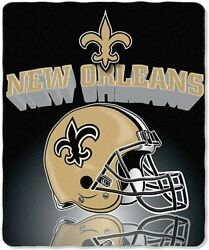 New Orleans Saints Nfl Gridiron Fleece Throw 50-inches X 60-inches