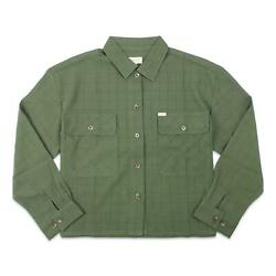 Brixton Womens Bowery Flannel Military Olive S New