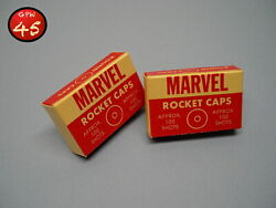 Vintage 1960s Canadian Marvel Toy Rocket Caps - 2 Boxes - By Bishop And Son