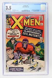 X-men 4 - Marvel 1964 Cgc 3.5 1st App Quicksilver, Scarlet Witch And Toad