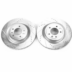 Powerstop For 2017 Land Rover Discovery Rear Evolution Drilled And Slotted Rotors
