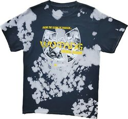 New Menand039s From The Slums Of Shaolin Wu-tang Clan Tie Dye Rapper Rap Tee T-shirt