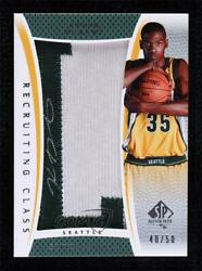 2007-08 Sp Authentic City Name /50 Kevin Durant Rc-kd Rpa Rookie Patch Auto