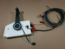 Johnson Evinrude Side Mount Remote Control Box With Power Trim 10 Pin Red Plug