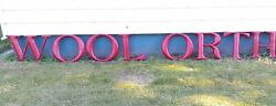 Rare Antique Woolworth Metal Store Sign Letters