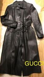 High-quality Genuine Leather Long Coat Free Shipping No.4535