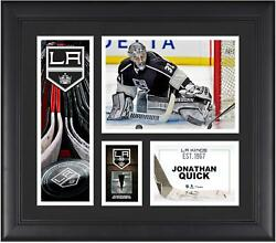 Jonathan Quick La Kings Framed 15x17 Collage W/ A Piece Of Game-used Puck