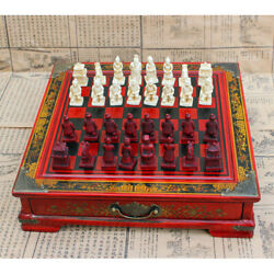 Vintage Wooden Chinese Chess Board Table Games Set Gift Collectibles