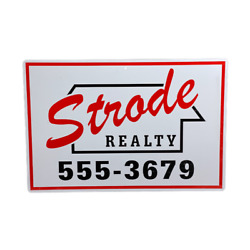 Strode Realty Metal Sign Halloween Movie Realty Michael Myers Horror Prop Decor