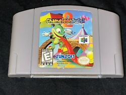 Chameleon Twist 2 Nintendo 64 1999 Cleaned Tested Authentic N64