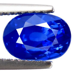 Natural Sapphire 2.65ct Flawless Sparkling Best Royal Blue Ceylon Sapphire Oval