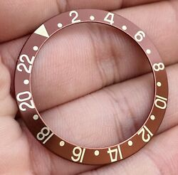 Rolex Brown Mid Font Insert Old Stock For Gmt Master Ref 1675 1675/8 1675/3