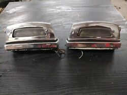 Mercedes Benz Chrome Rear License Plate Lights For 1967 250s W108 W109 L And R-oem
