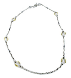 Konstantino Silver And Gold Classics 6-station Necklace 36 Retail 3180 New